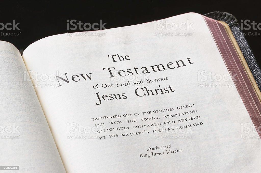 Bible Page stock photo
