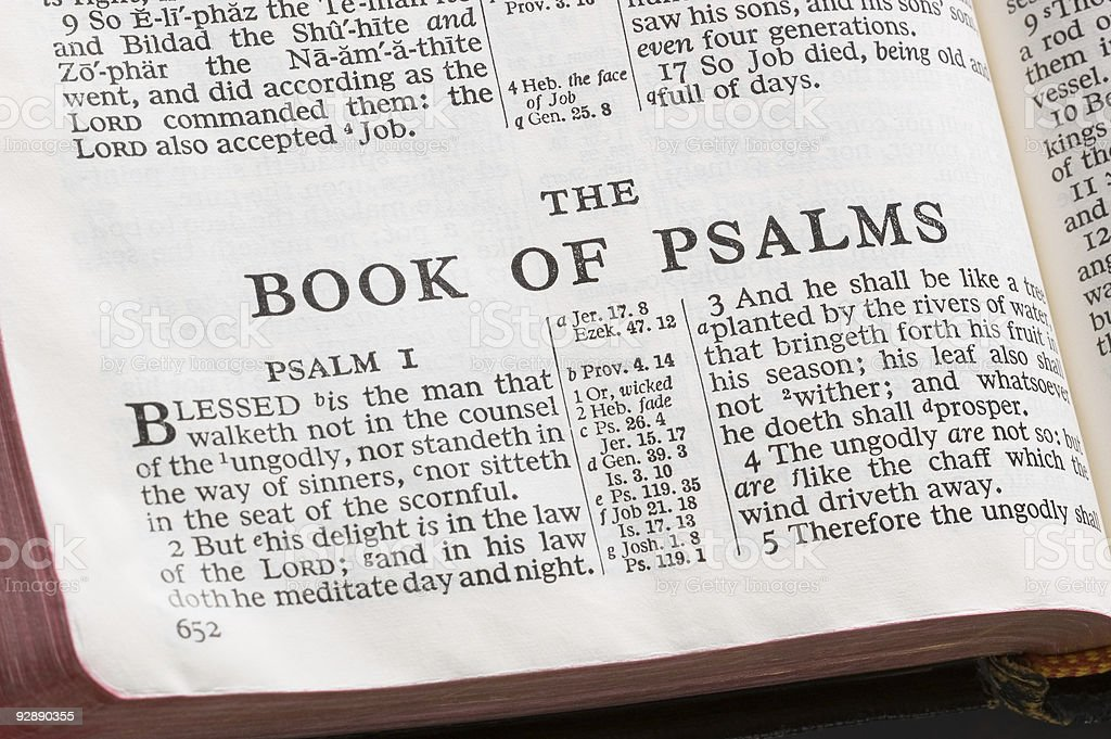 Bible Page royalty-free stock photo