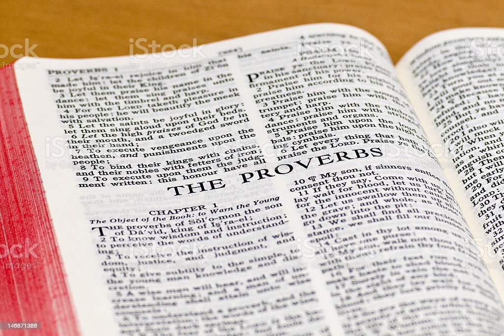 Bible Page - Proverbs royalty-free stock photo