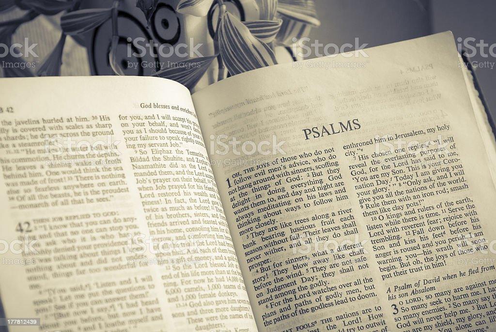 Bible - Psalms royalty-free stock photo