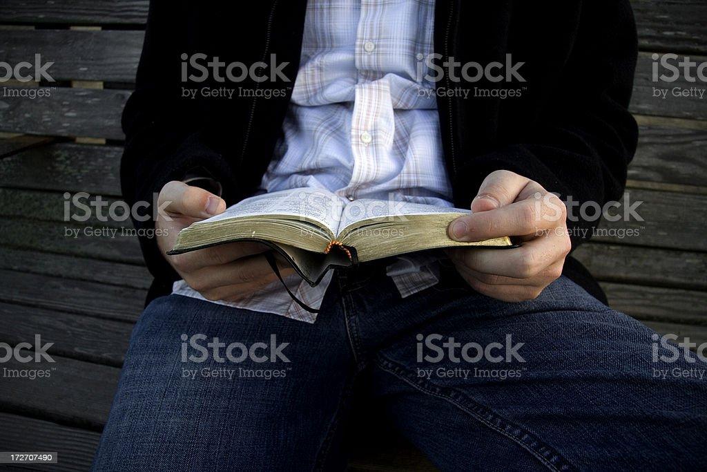 Bible Reading  11 stock photo