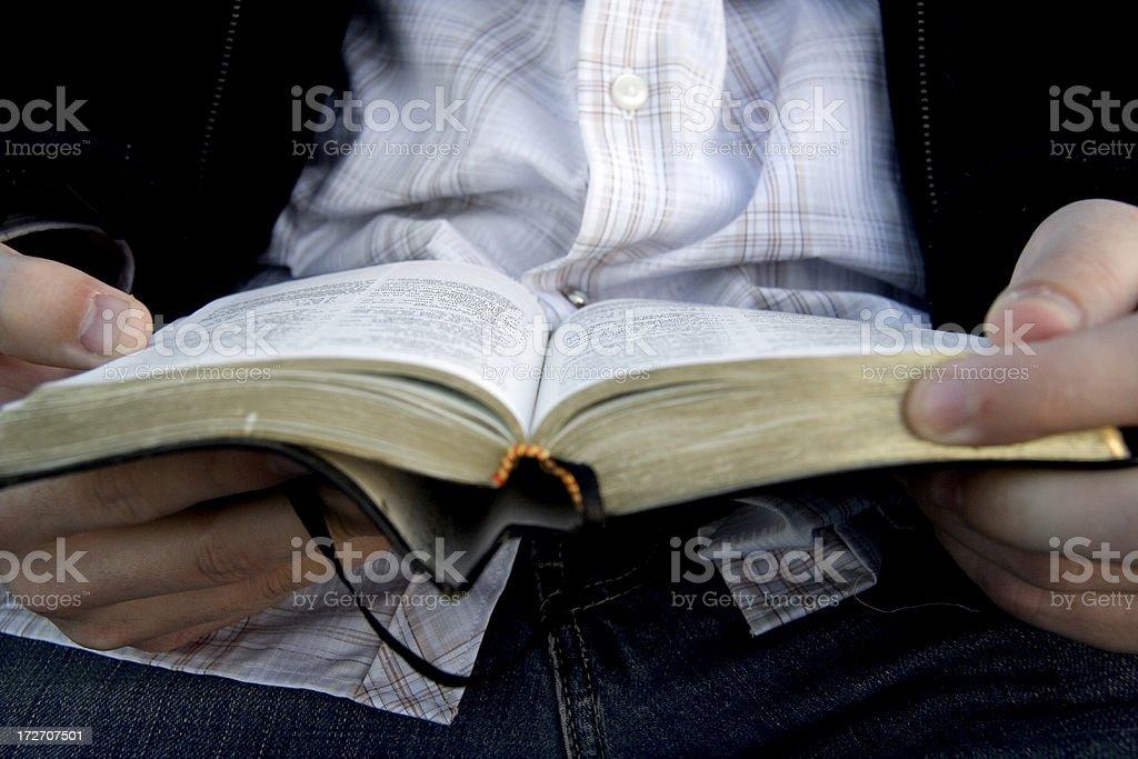 Bible Reading 13 stock photo