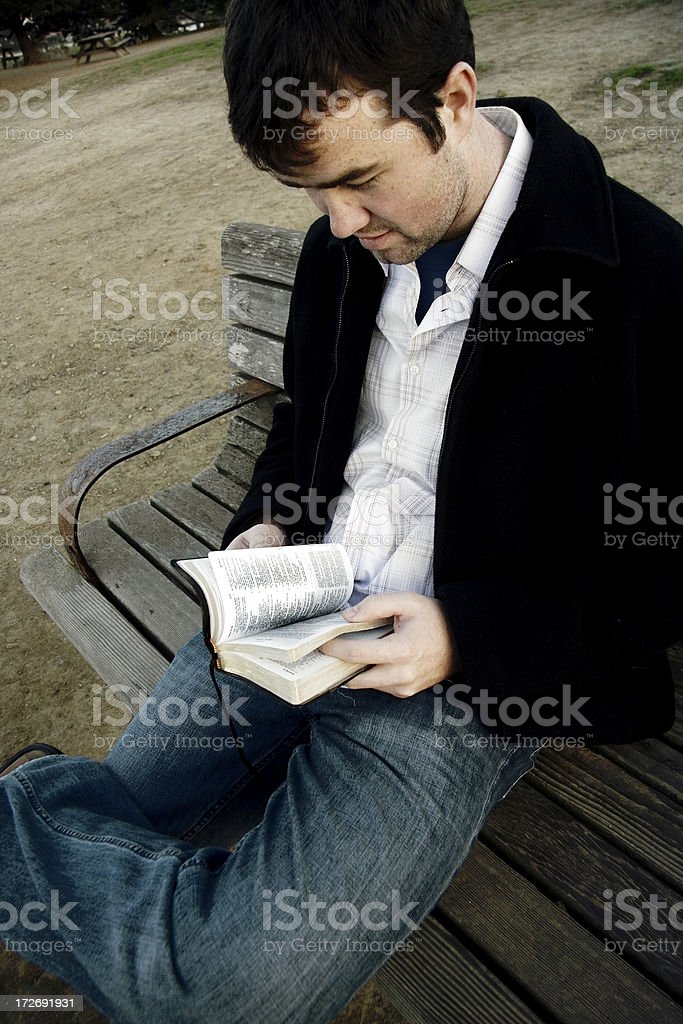 Bible Reading 2 stock photo