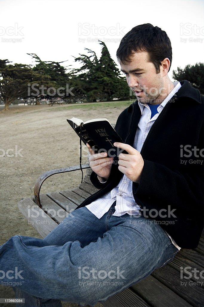 Bible Reading 7 stock photo