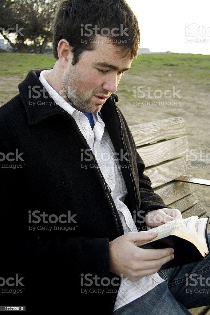 Bible Reading 9 stock photo
