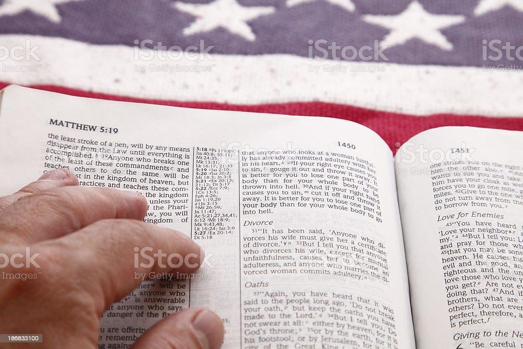 Bible Reading stock photo