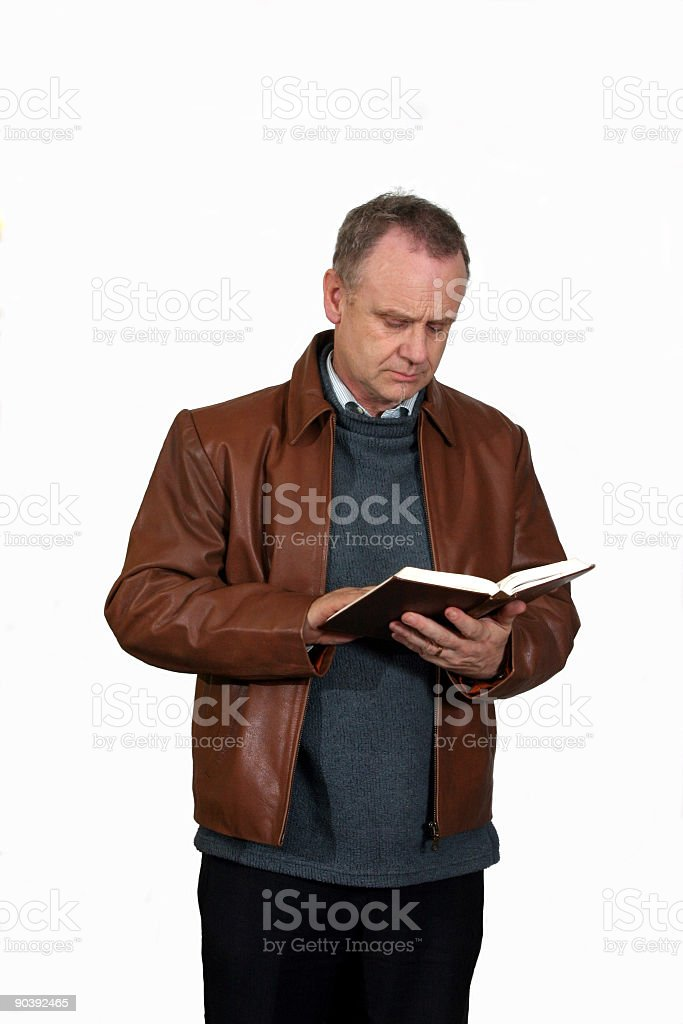 Bible reading royalty-free stock photo