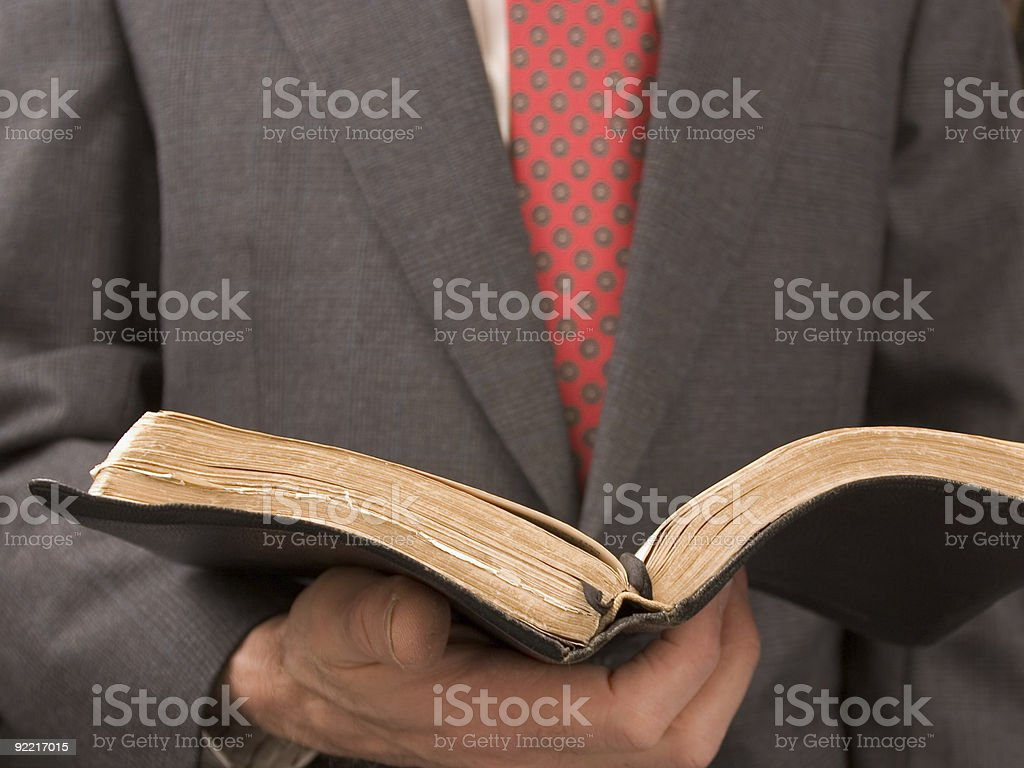 Bible Reading stock photo