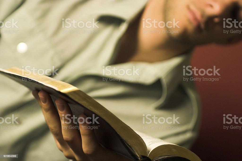 Bible Reading royalty-free stock photo