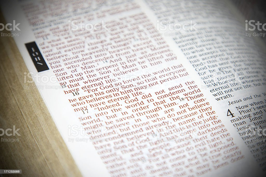 Bible Scripture royalty-free stock photo
