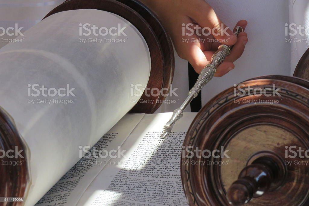 Bible Scrolls stock photo