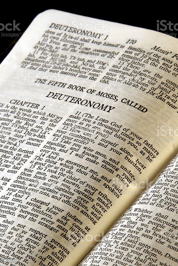 bible series deuteronomy royalty-free stock photo