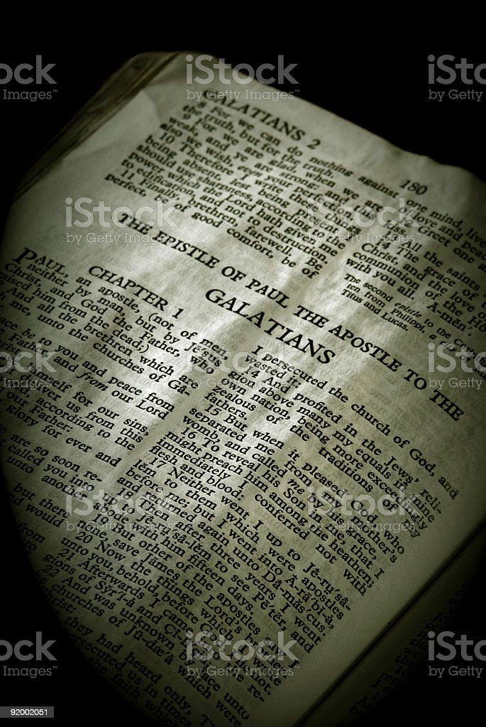 Bible Series Galations royalty-free stock photo