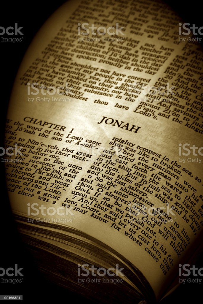 Bible Series Jonah stock photo