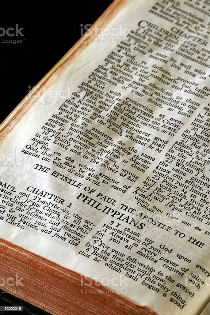 Bible Series Philippians stock photo