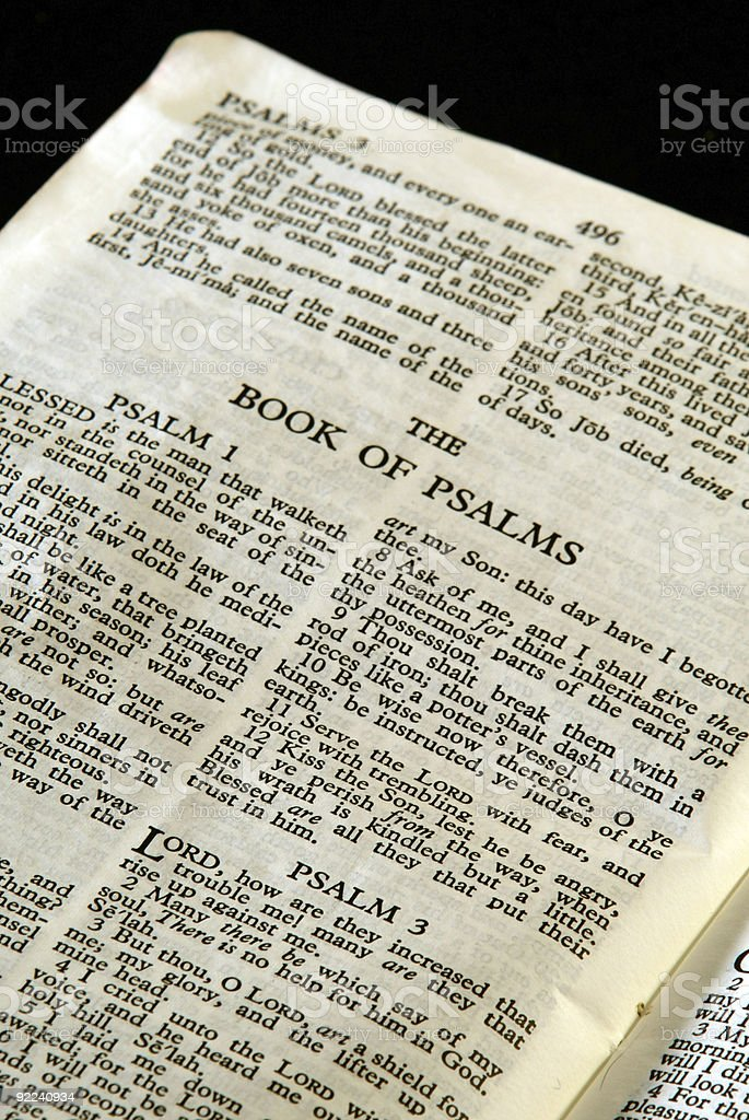 bible series psalms stock photo