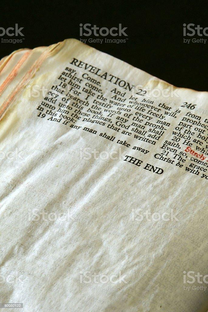 Bible Series Revelation 2 stock photo