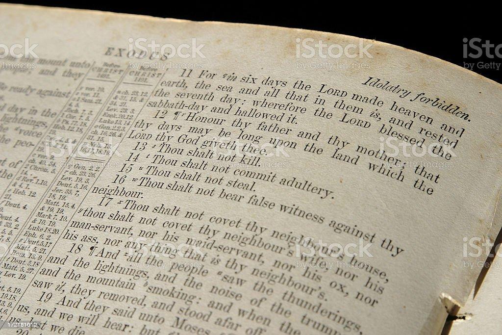 Bible Series The Ten Commandments stock photo