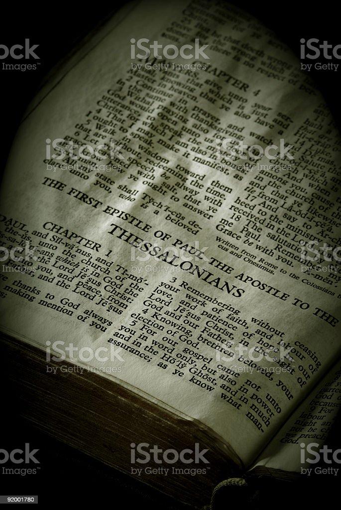 Bible Series Thessalonians stock photo