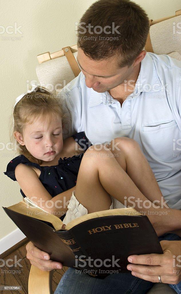 Bible Sleeping Child stock photo