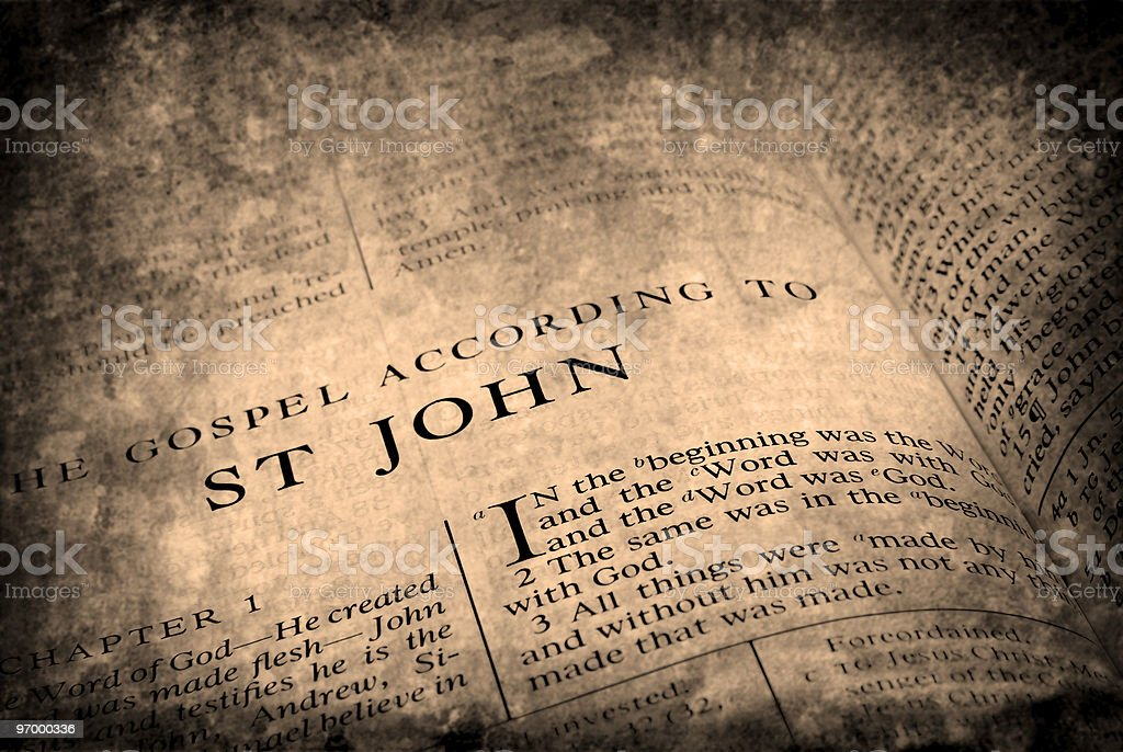 Bible St. John stock photo