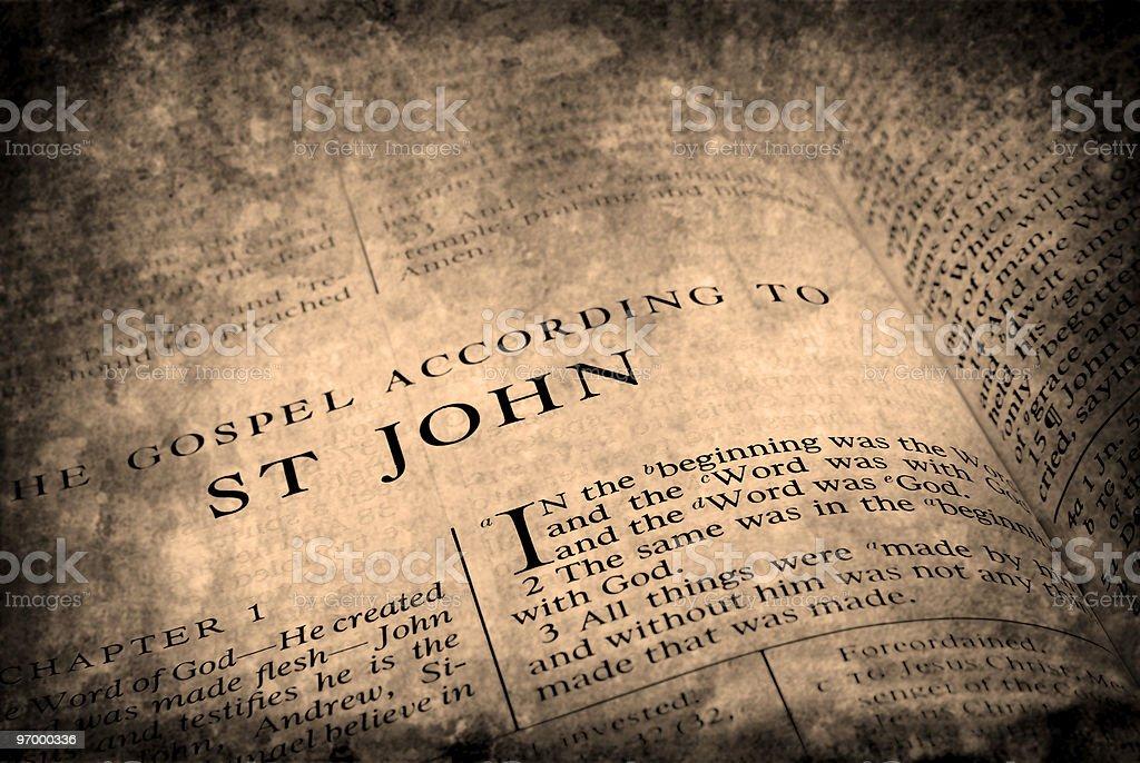 Bible St. John stock photo