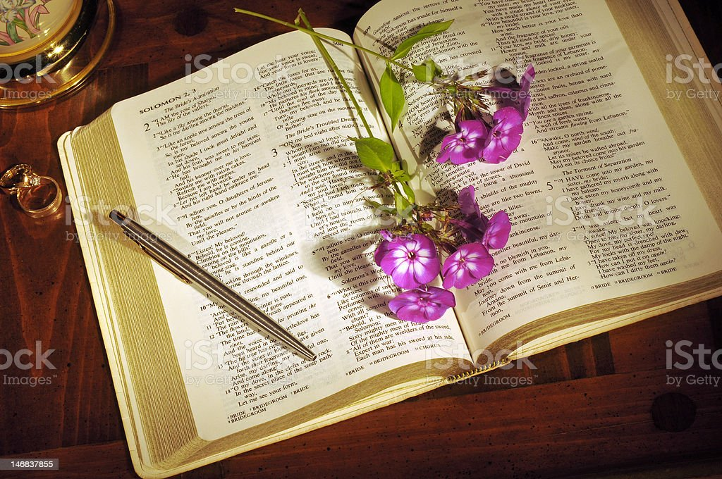Bible still life royalty-free stock photo
