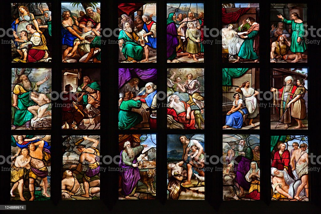 Bible stories stock photo