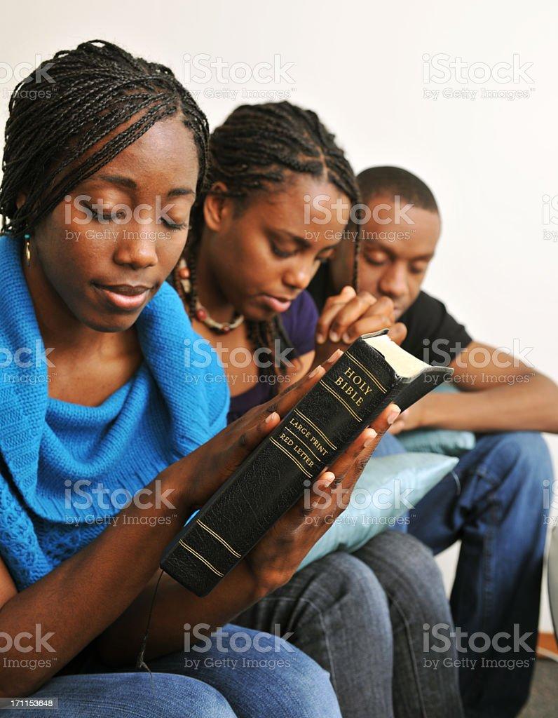 Bible study and Prayer royalty-free stock photo