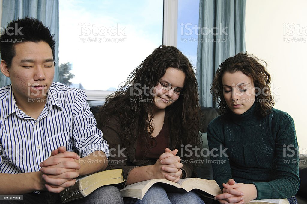 Bible Study and Prayer royalty-free stock photo