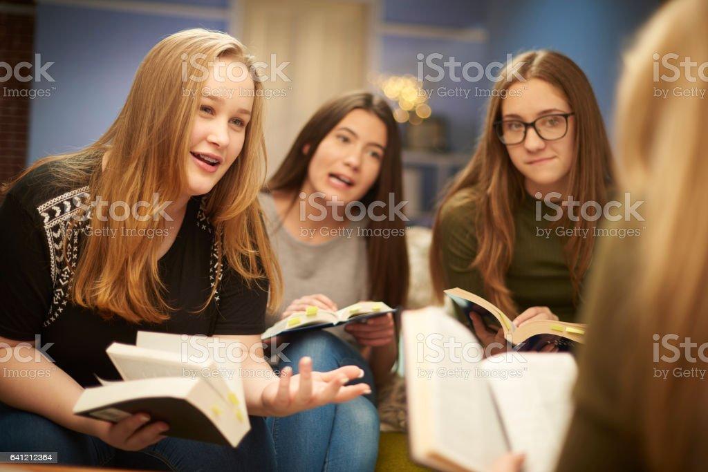 bible study group stock photo