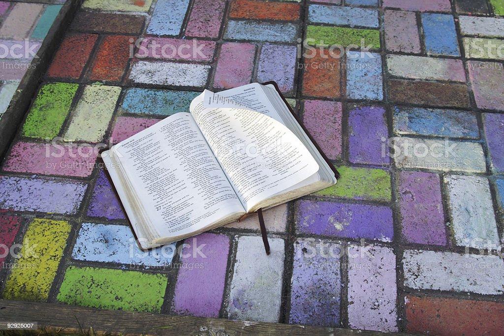 Bible talks stock photo