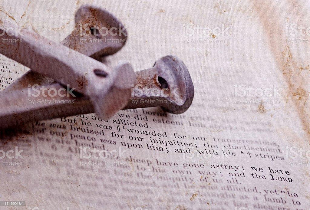 Bible Verse Isaiah 53 stock photo
