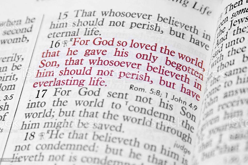 Bible Verse John 3:16 stock photo