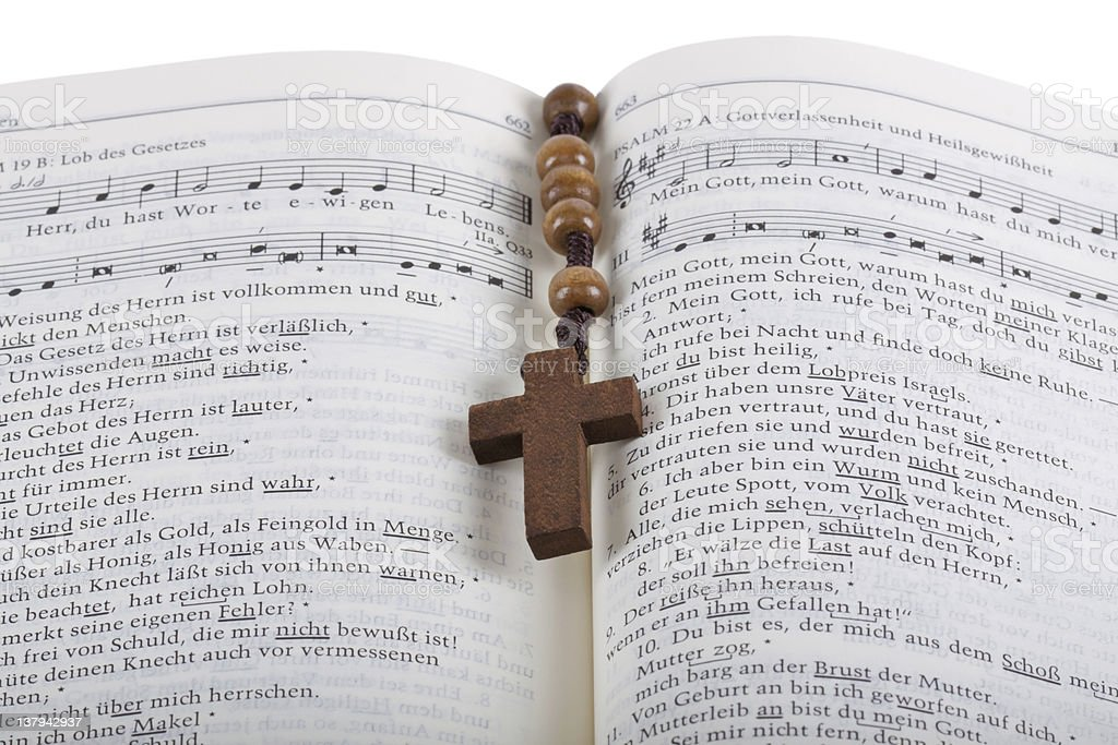 Bible with rosary royalty-free stock photo