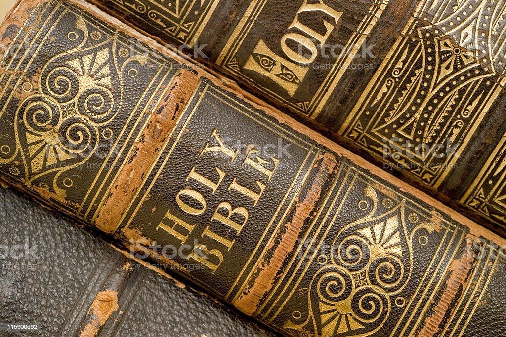 Bibles an at angle royalty-free stock photo