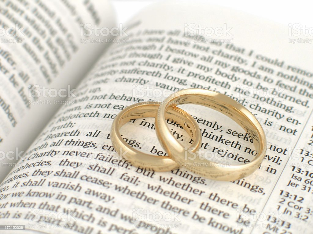 Biblical Marriage (KJV) royalty-free stock photo