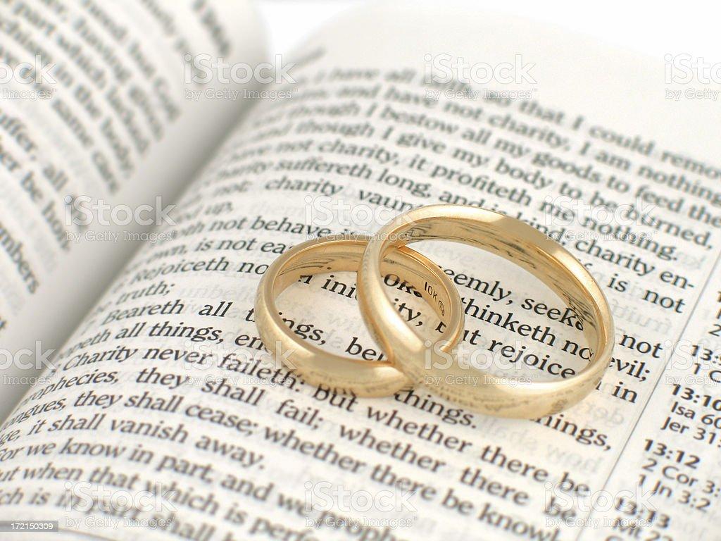 Biblical Marriage (KJV) stock photo