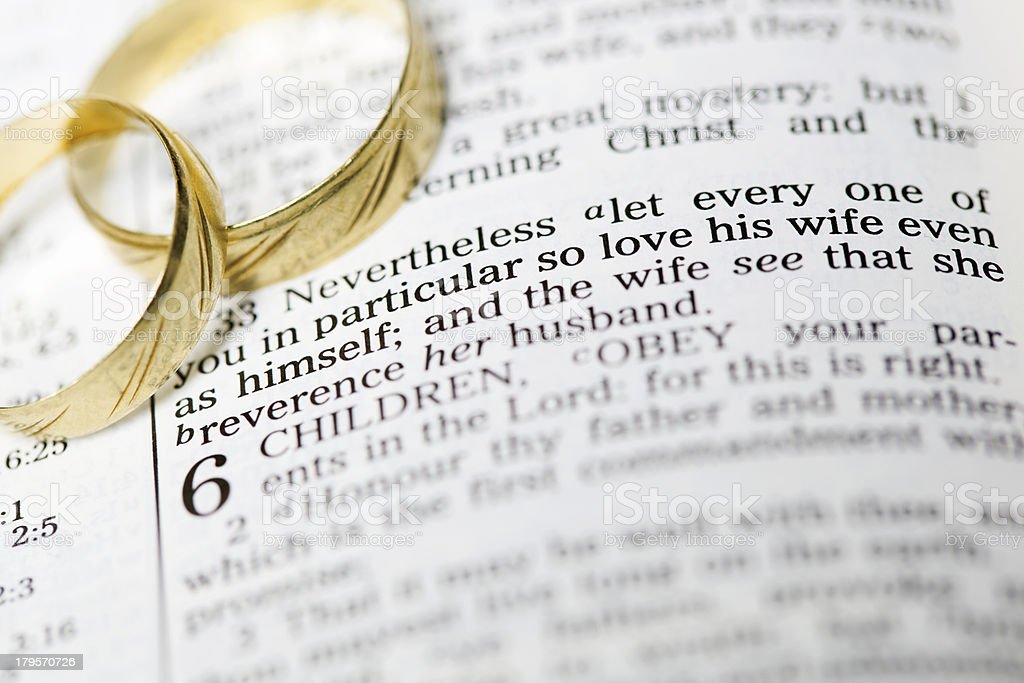 Biblical Marriage royalty-free stock photo