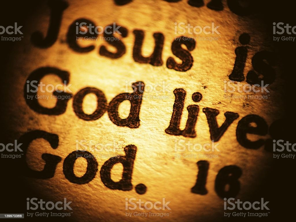 Biblical message - close up royalty-free stock photo