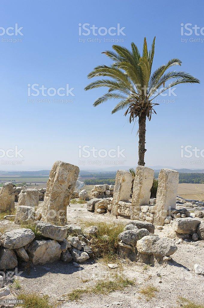 Biblical place of Israel: Megiddo stock photo