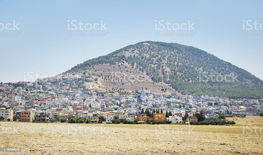 Biblical place of Israel: mount Tabor stock photo