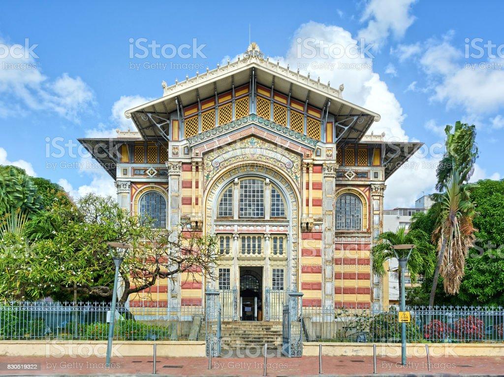 Biblioteque Shoelcher, Port de France, Martinique stock photo