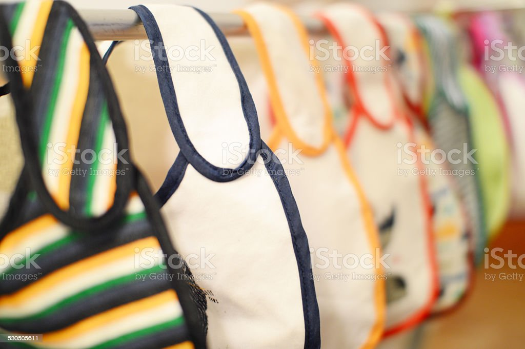 Bibs collection stock photo