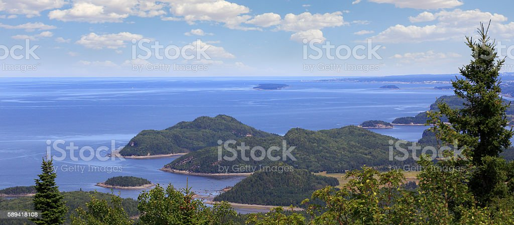 Bic National Park along the St. Lawrence River in Quebec stock photo