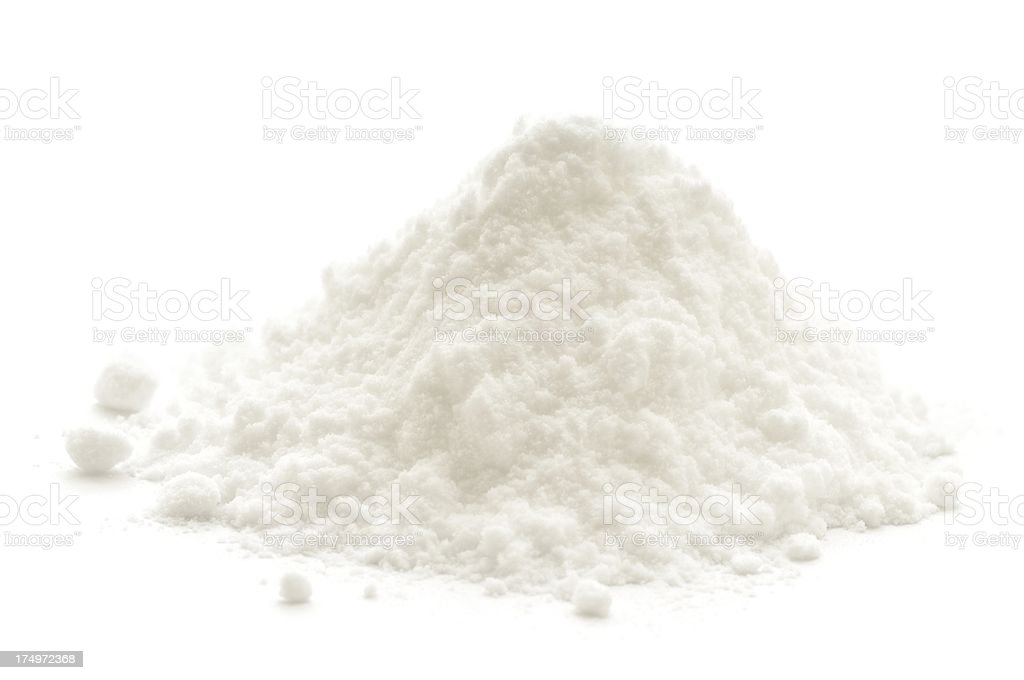 Bicarbonate of soda stock photo