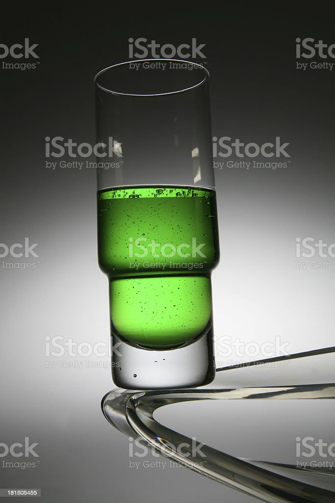 bicchiere con bevanda colorata royalty-free stock photo
