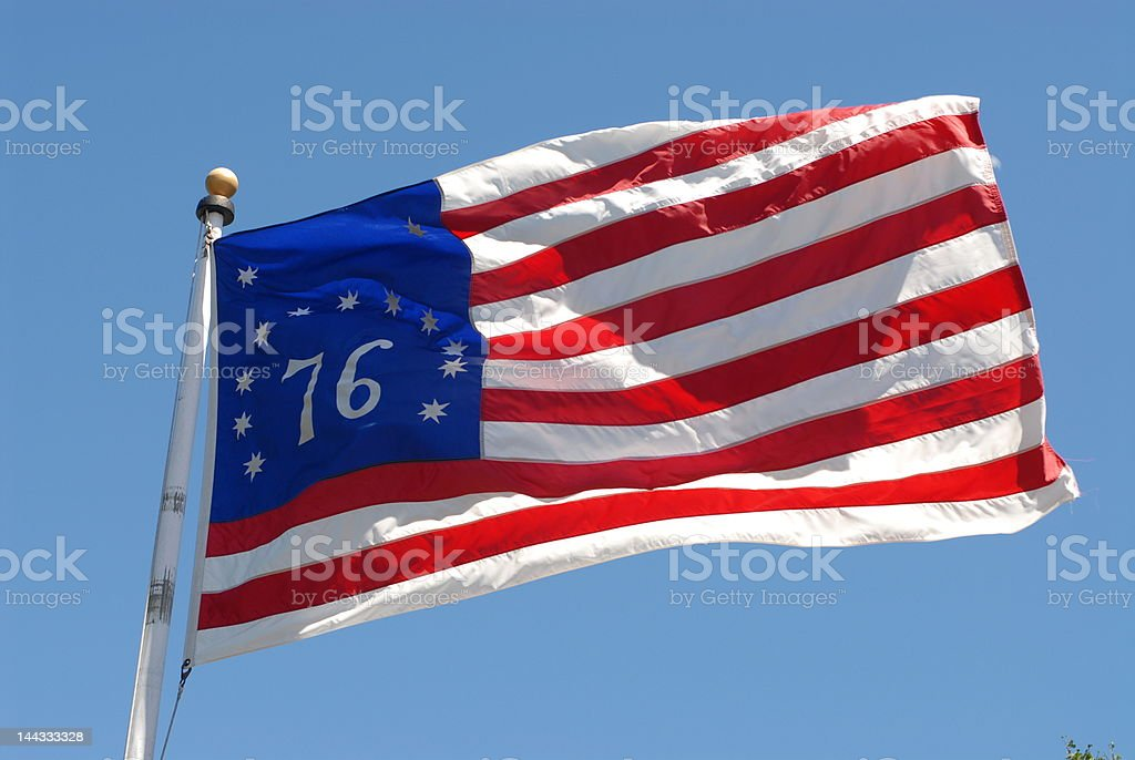 Bicentennial Flag stock photo