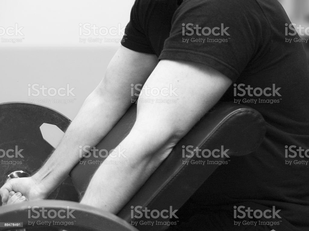 biceps curl royalty-free stock photo