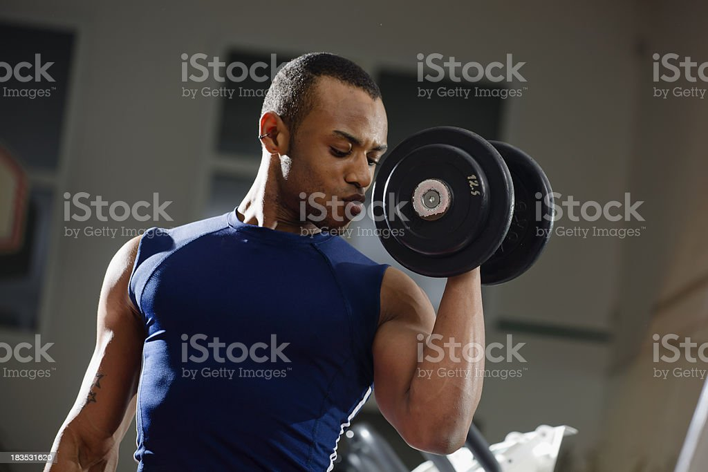 Biceps Hammer Curls royalty-free stock photo